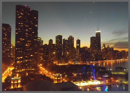 The Chicago Skyline at Dusk - Brentwood Travel