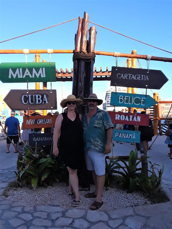 Emily & her husband in Costa Maya, Mexico.