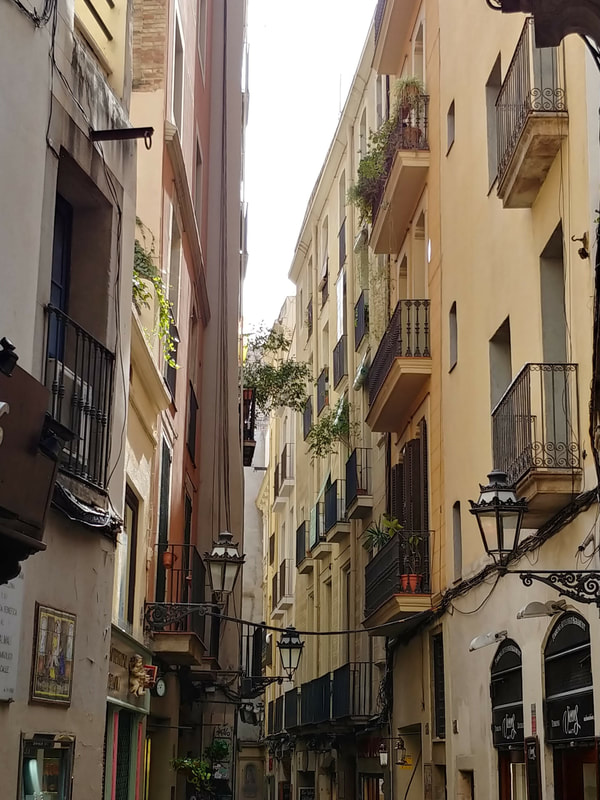 The walking tour of Barcelona