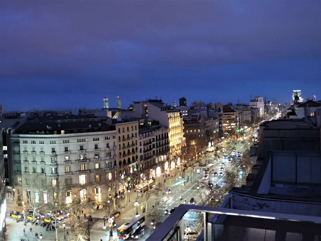 The views from the rooftop of Hotel Claris in Barcelona