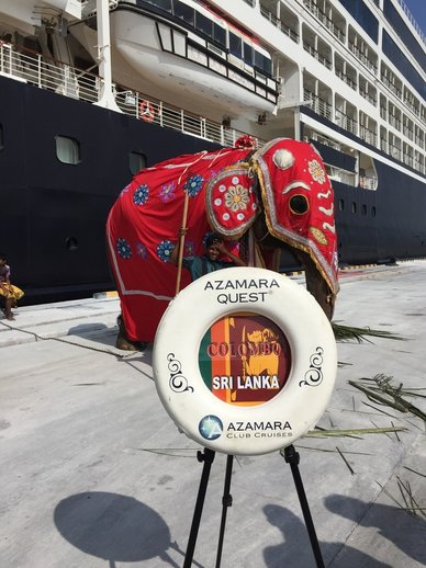 Azamara Quest docked in Sri Lanka