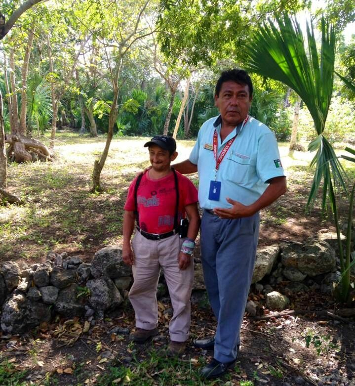 The true Mayan man that Christine met while touring the Mayan ruins in Cozumel, Mexico.