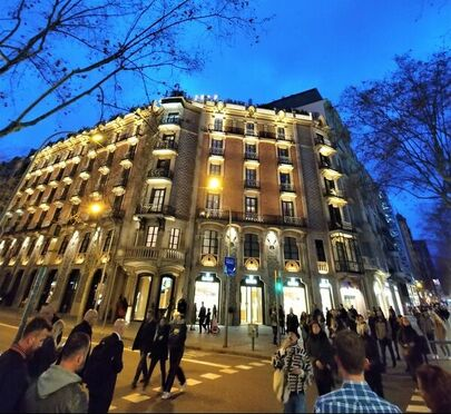 The outside of Hotel Claris in Barcelona