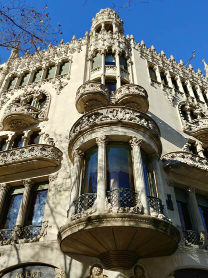 Photos from the walking tour of Barcelona