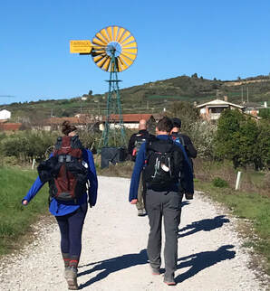 Jen and her brothers as they hike The Camino De Santiago in Chile.