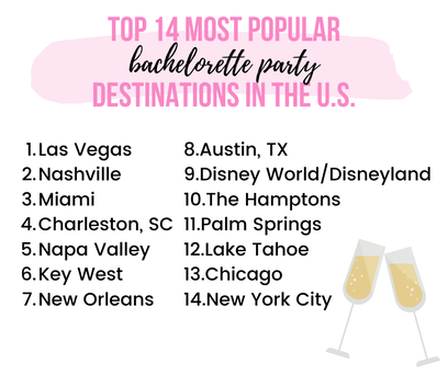 Top bachelorette party destinations