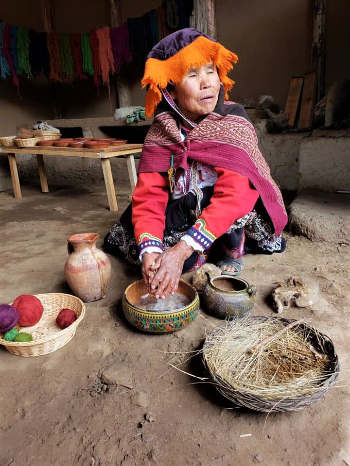 A Peruvian woman in Peru.