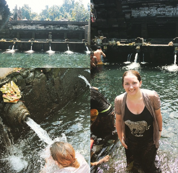 Spiritual cleaning at Hindu Holy Spring Water Temple in Bali