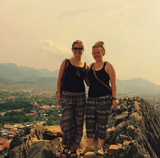 At the top of Mount Phousi in Luang Prabang, Laos.
