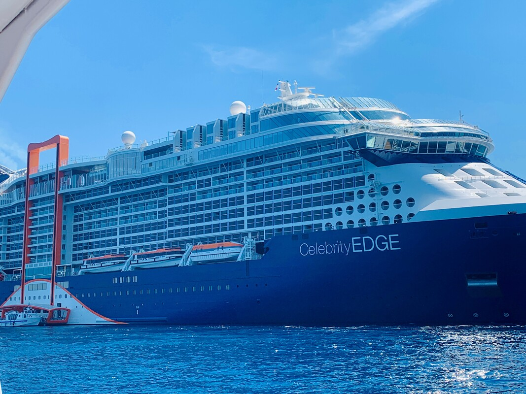 Photo of Stacey's Celebrity Edge ship.