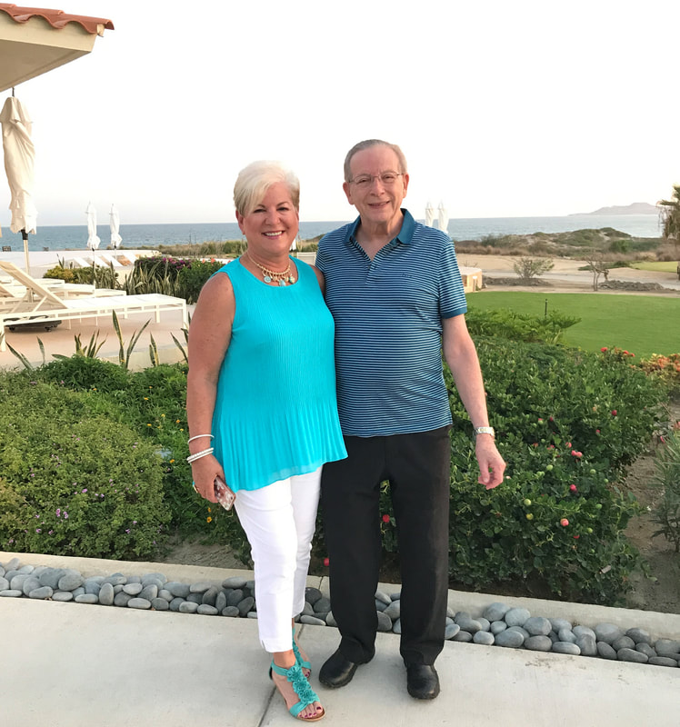 Stephanie and husband Will at Secrets Puerto Los Cabos Spa Resort in Mexico